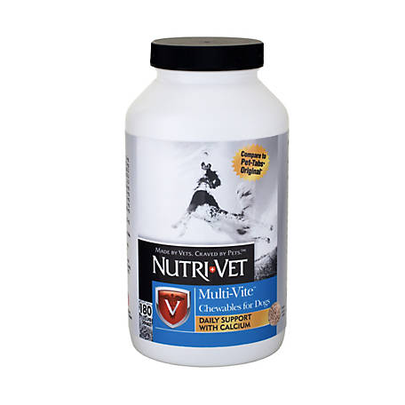 Nutri-Vet Multi-Vite Chewables, 180 Tablets, 1001070