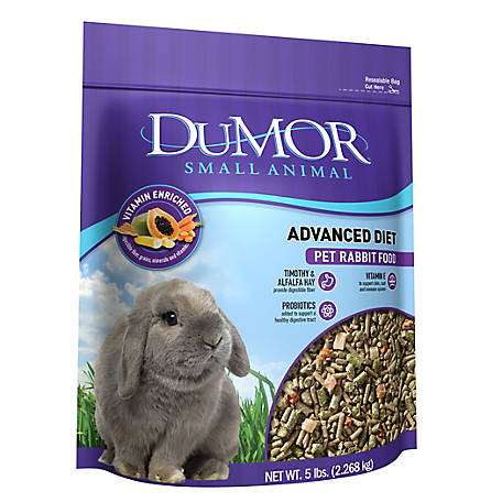 DuMOR Advanced Diet Pet Rabbit Food, 5 lb. Bag