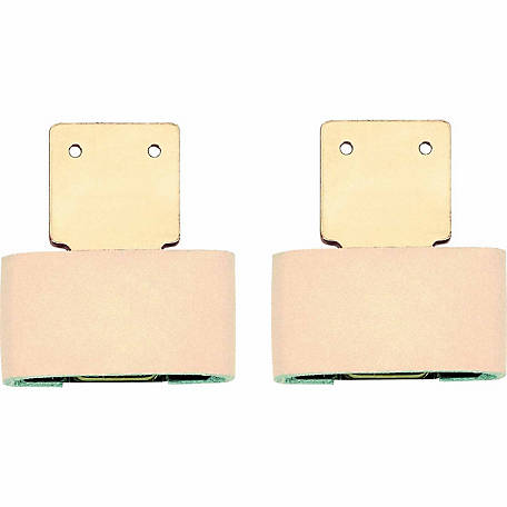 Weaver Leather 2-1/2 in. Leather Covered Vertical Solid Brass Blevins Buckle
