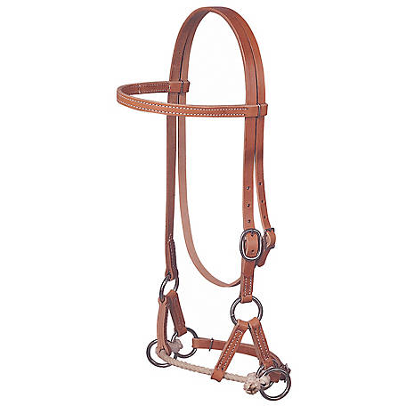Weaver Leather Harness Leather Side Pull, Single Rope, Russet