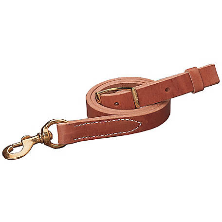 Weaver Leather Harness Leather Tie Down Strap, Russet, 1 in. x 40 in., 30-0640