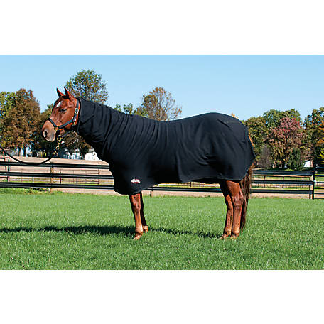 Weaver Fitted Polar Fleece Cooler, Black, Average Horse