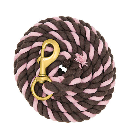 Weaver Leather Striped Cotton Lead Rope with Solid Brass 225 Snap