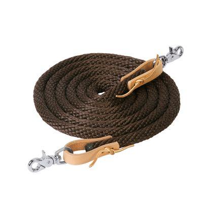 3//8-Inch x 8-Feet Weaver Leather Poly Roper Rein Black