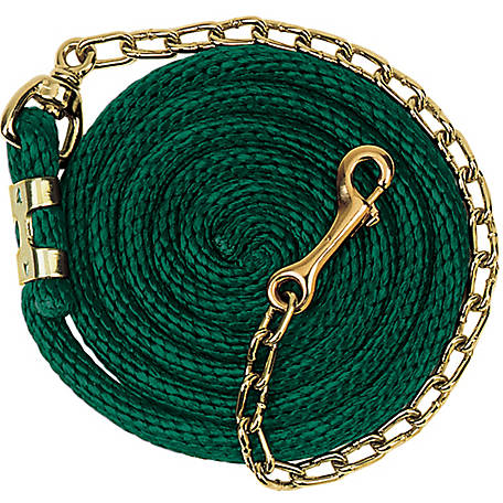 Weaver Leather Poly Lead Rope with Brass Plated Swivel Chain, 5/8 in. x 8 ft.6 in., 35-2125-S13