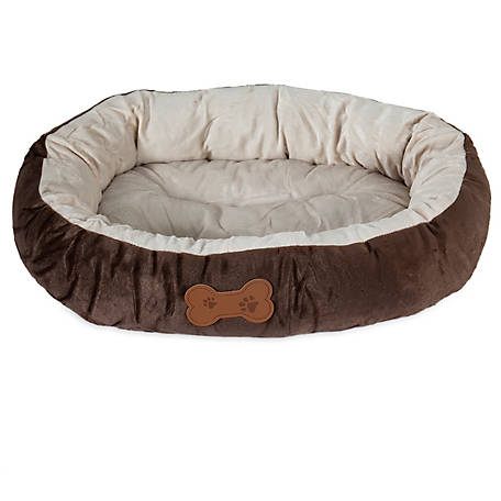 Aspen Pet Oval Bed with Bone Applique