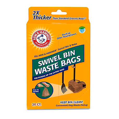 Arm & Hammer Swivel Bin Waste Bags, Pack of 20, 71035