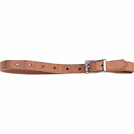 Weaver Leather Harness Leather Replacement Uptug with Chrome Brass Hardware, 1 in. x 26 in.