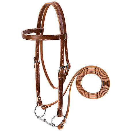 Weaver Leather Draft Horse Riding Bridle, Sunset, Average