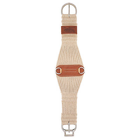 Weaver Leather Natural Blend 27 Strand Roper Smart Cinch with Roll Snug Cinch Buckle