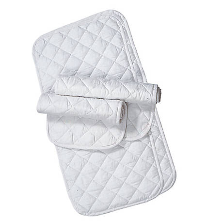 Weaver Leather Quilted Leg Wraps, White, Pack of 4