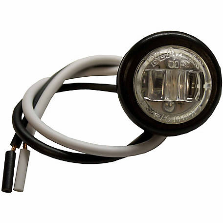 Blazer C1534BCK LED 3/4 in. Round Clear Clearance and Side Marker Light with Rubber Grommet
