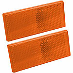 Blazer B178SAW Rectangular Stick-On Reflector, Amber, Pack of 2
