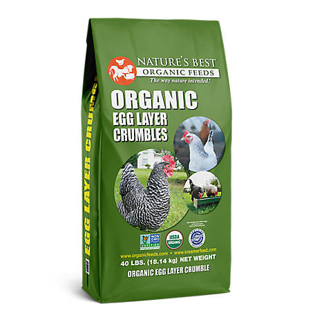 Nature's Best Organic Egg Layer Crumbles, 40 lb.