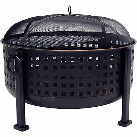 Pleasant Hearth OFW821RC Langston 12 in. Deep Bowl Fire Pit