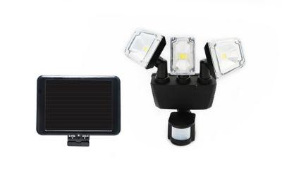 Buy Nature Power 180 deg. Black Solar Motion Sensing Triple Lamp Security Light with Advance LED Technology Online