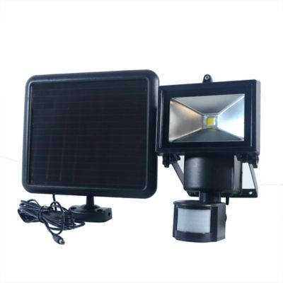Buy Nature Power 180 deg. Black Solar Motion Sensing Security Light with Advance LED Technology Online