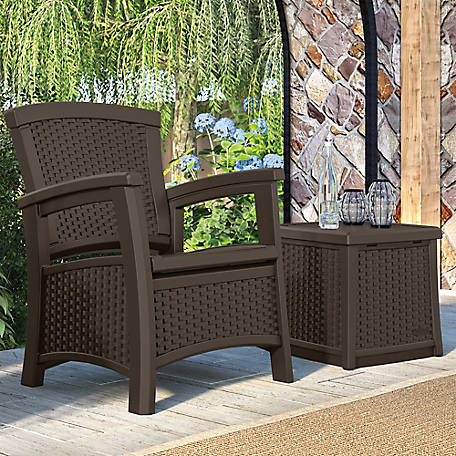 Suncast Elements Club Chair with Storage
