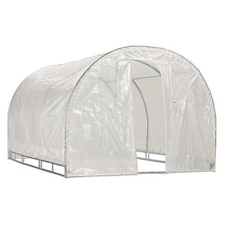 Weather Guard Weatherguard Round Top Greenhouse, 6 ft.6 in. H x 8 ft.W x 8 ft.L, IS 63001