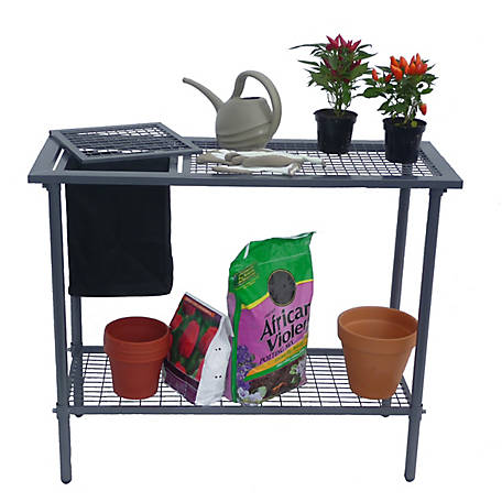 Early Start Weatherguard Garden Utility Bench with Wire Mesh Top