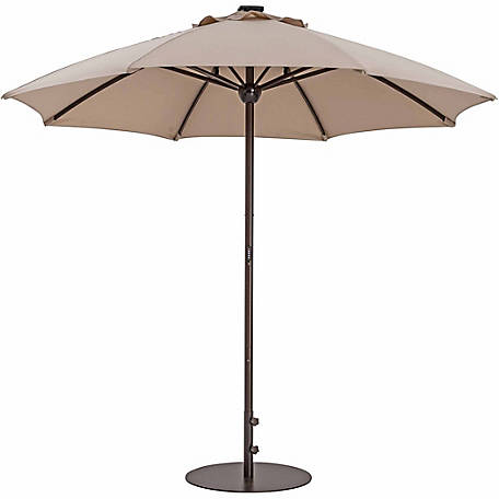 TrueShade Plus 9 ft. Automatic Market Umbrella with Sunbrella Fabric, Light Antique Beige