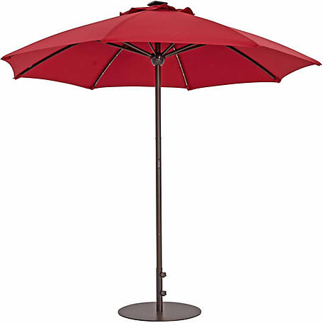 TrueShade Plus 9 ft. Automatic Market Umbrella with Sunbrella Fabric, Light Jockey Red