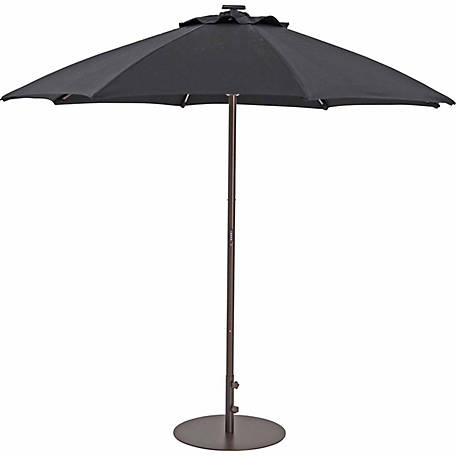 TrueShade Plus 9 ft. Automatic Market Umbrella with Sunbrella Fabric, Light Black