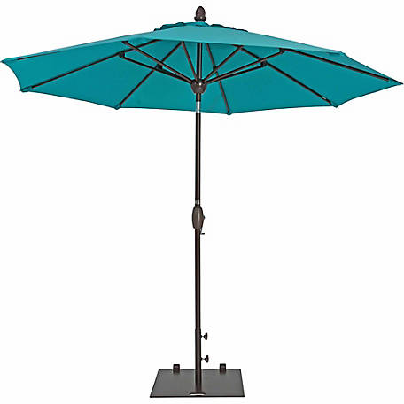 TrueShade Plus 9 ft. Market Umbrella with push-button Tilt, Aruba