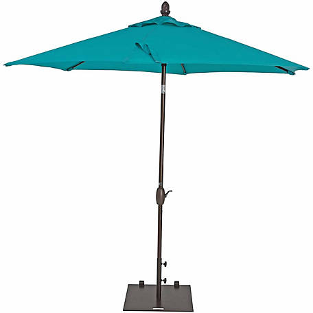 TrueShade Plus 9 ft. Garden Parasol with push-button tilt-and-crank, Aruba