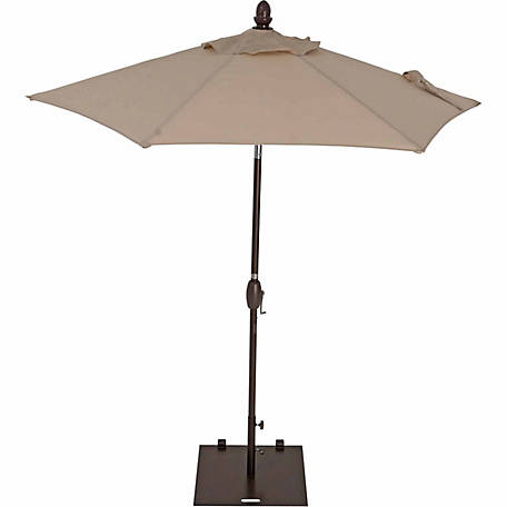 TrueShade Plus 7 ft. Garden Parasol with push-button tilt-and-crank, Antique Beige