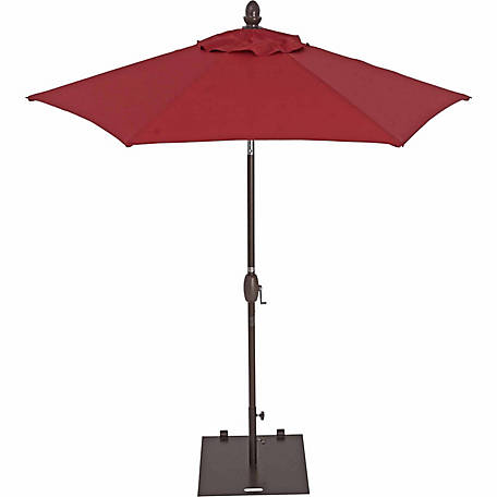 TrueShade Plus 7 ft. Garden Parasol with push-button tilt-and-crank, Jockey Red