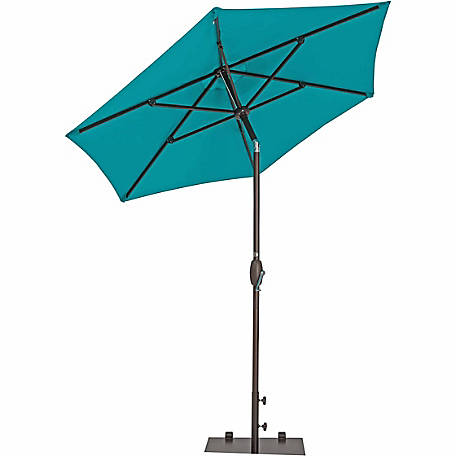 TrueShade Plus 7 ft. Garden Parasol with push-button tilt-and-crank, Aruba