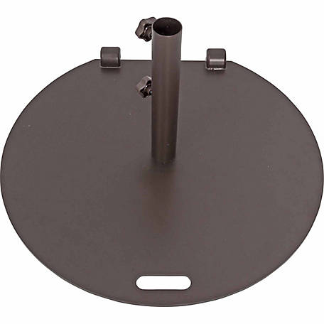 TrueShade Plus 27 in. Steel Round Umbrella Base With Wheels