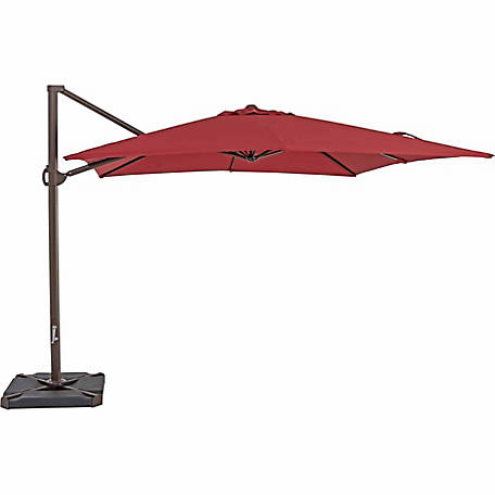 TrueShade Plus 10 ft. x 10 ft. Cantilever Square Umbrella, Jockey Red