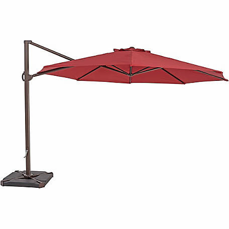 TrueShade Plus 11.5 ft. Cantilever Round Umbrella, Jockey Red