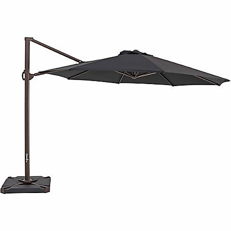TrueShade Plus 11.5 ft. Cantilever Round Umbrella, Black
