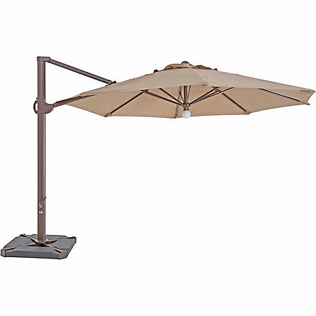 TrueShade Plus 11.5 ft. Cantilever Octagon Umbrella, Light Heather Beige
