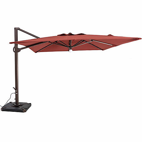 TrueShade Plus 10 ft. x 10 ft. Cantilever Square Umbrella, Light Henna