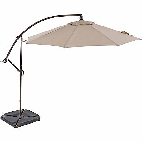 TrueShade Plus 10 ft. Cantilever Round Umbrella, Light Antique Beige