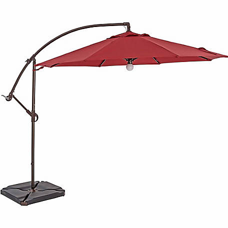 TrueShade Plus 10 ft. Cantilever Round Umbrella, Light Jockey Red