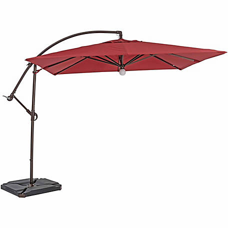 TrueShade Plus 9 ft. x 9 ft. Cantilever Square Umbrella, Light Jockey Red, UYL098PJR