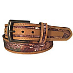 G BAR D Men's Brown Belt with Camo Inlay