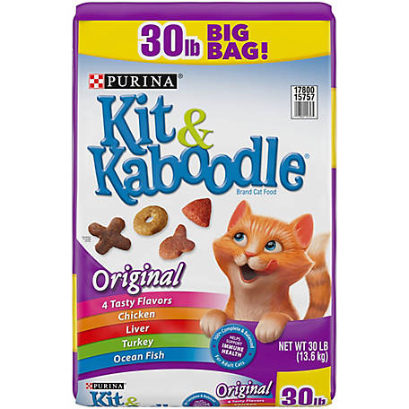Purina Kit & Kaboodle Dry Cat Food, Original, 30 lb. Bag