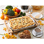 Creative Home Grand Buffet Rectangular Baking Stoneware Dish with Bamboo Serving Cradle
