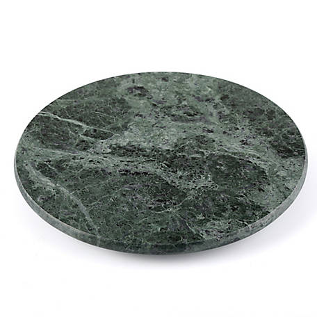 Creative Home Green Marble 8 in. Round Trivet