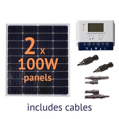 Buy Grape Solar 200W Off-Grid Solar Panel Kit Online