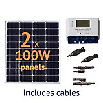 Grape Solar 200W Off-Grid Solar Panel Kit, GS-200-KIT