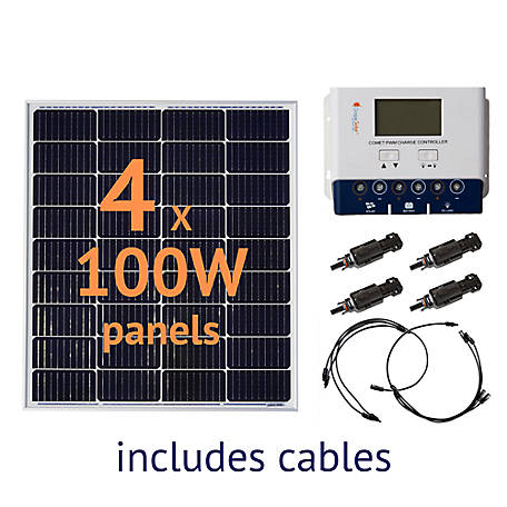 Grape Solar 400W Off-Grid Solar Panel Kit, GS-400-KIT
