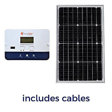 Grape Solar 50W Off-Grid Solar Panel Kit, GS-50-KIT