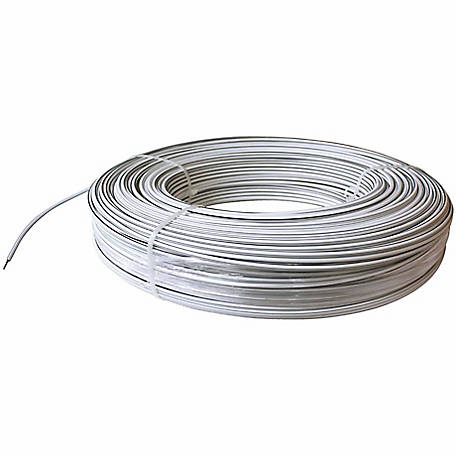White Lightning Coated Electric High Tensile Wire Fence, 1,320 ft. Roll, White
